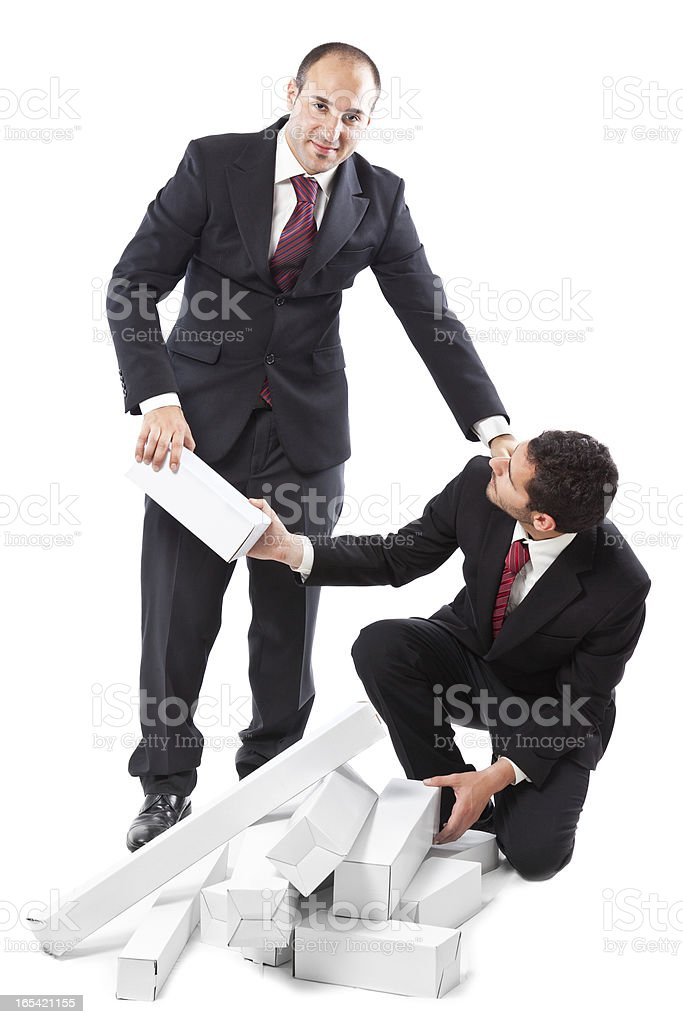 helping out a colleague royalty-free stock photo
