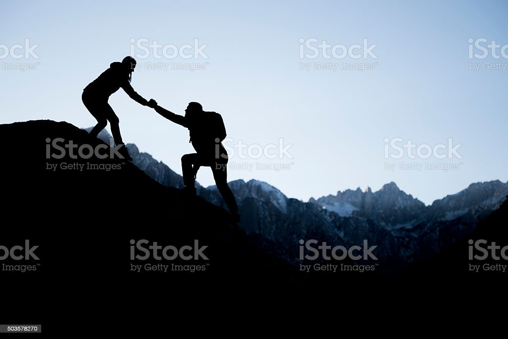 Helping the other stock photo