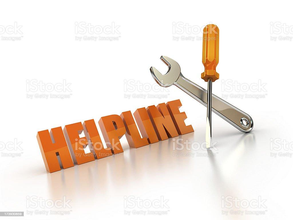 Helpline royalty-free stock photo