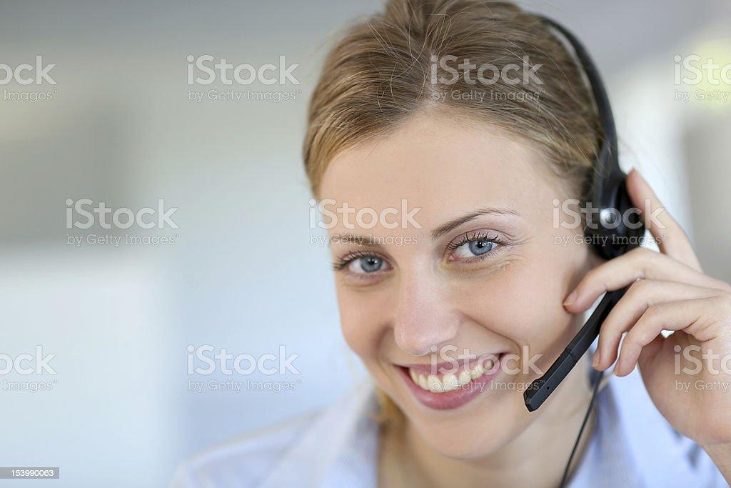 Helpline service stock photo