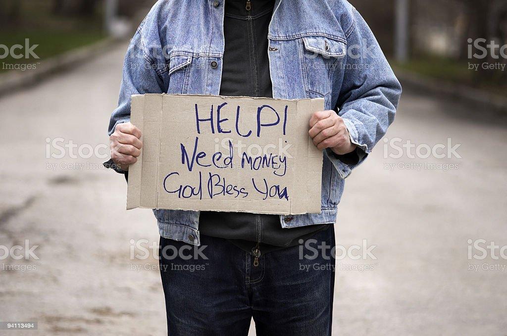 Help!Need money! royalty-free stock photo