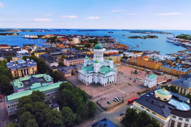 공중, 헬싱키 핀란드 - 핀란드 뉴스 사진 이미지