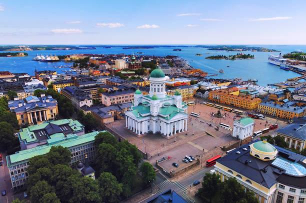 Helsinki aerial, Finland stock photo