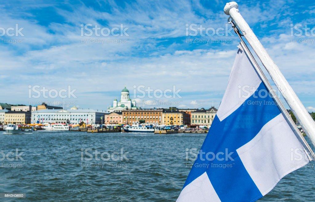 Helsinki capital of Finland stock photo