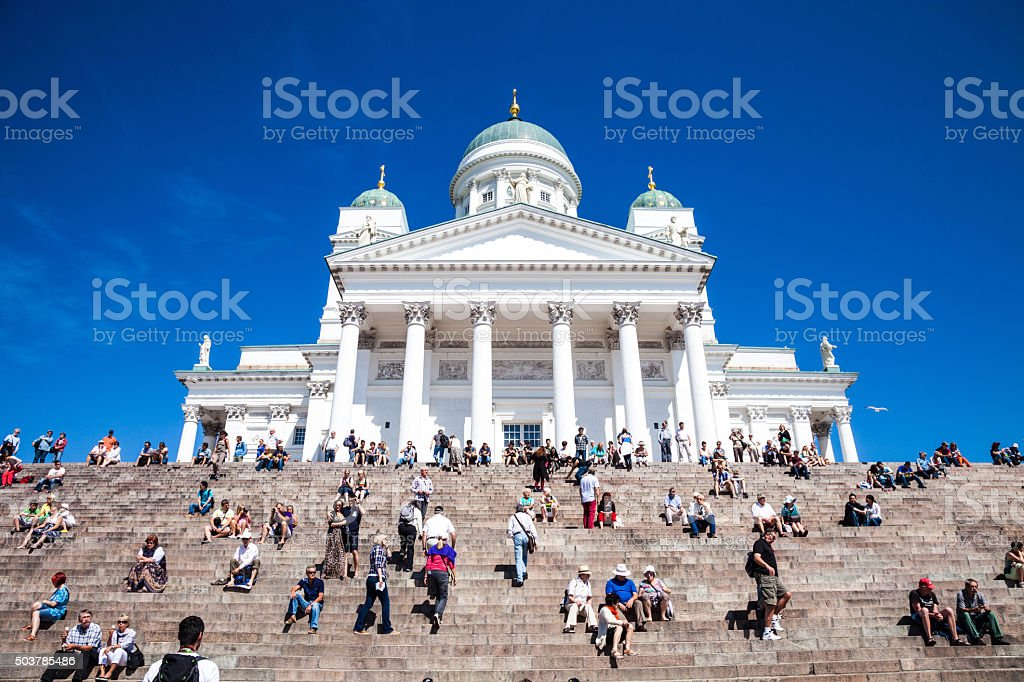 Helsinki Cathedral in city cente stock photo
