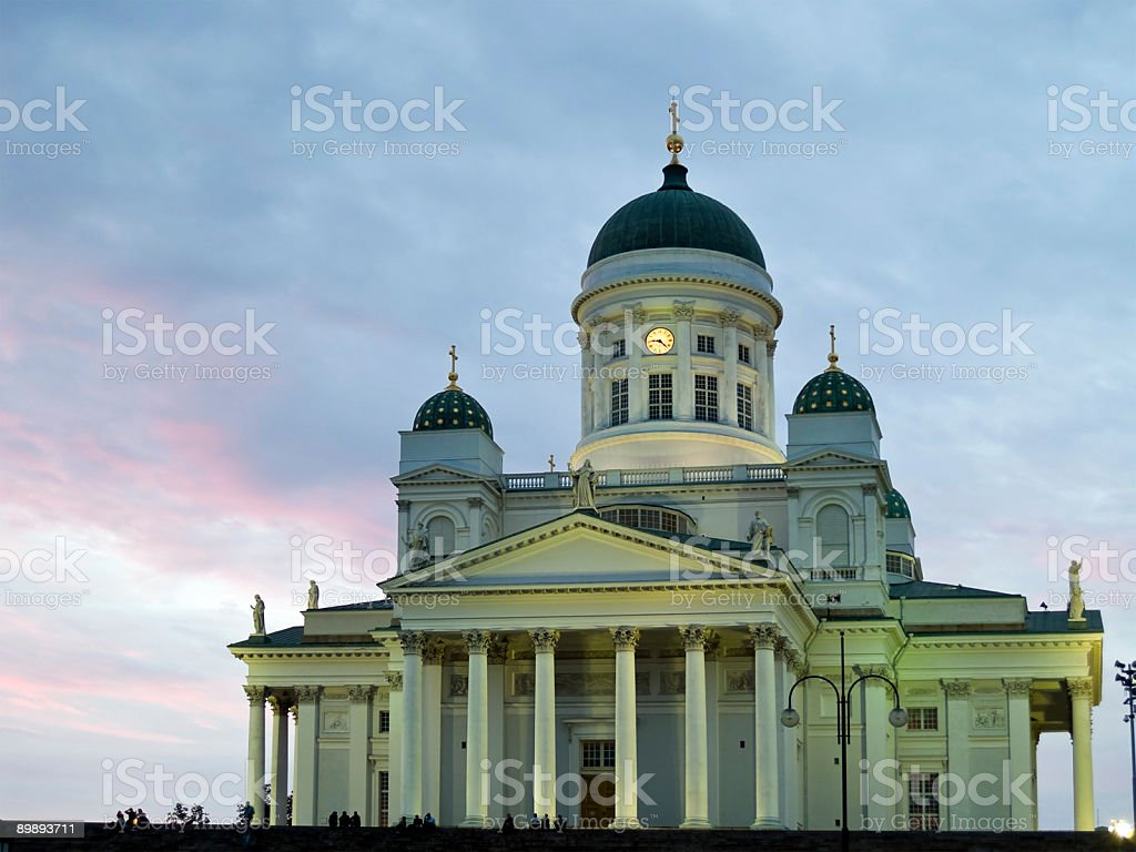 Helsinki cathedral in Sunset royalty-free stock photo