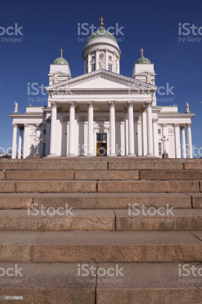 Helsinki Cathedral stock photo