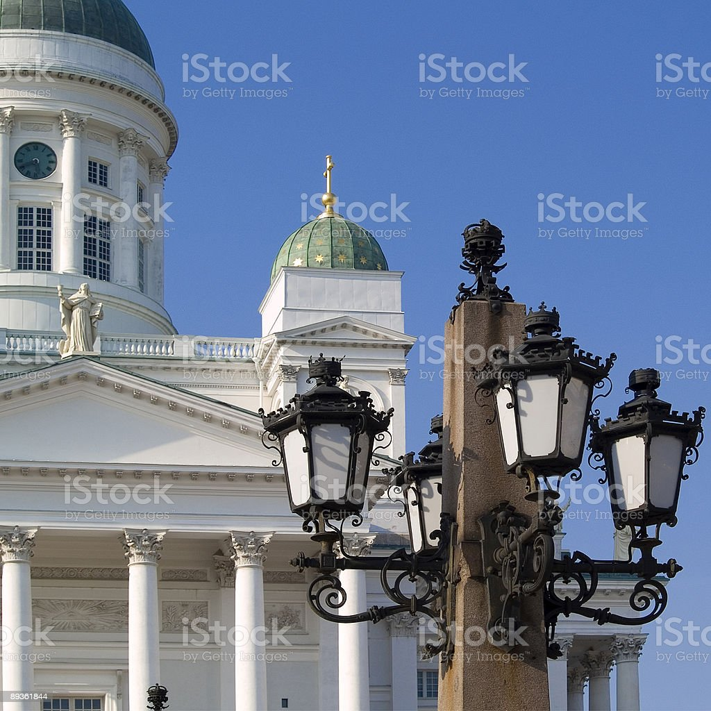 Helsinki Cathedral with Lantern royalty free stockfoto