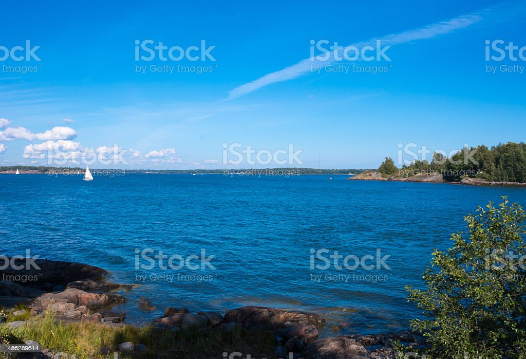 Helsinki Coast stock photo