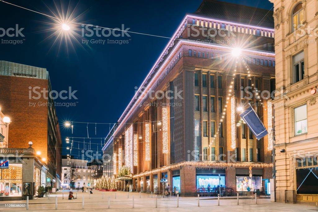 Helsinki, Finland. Building Of Department Store On Keskuskatu Street...