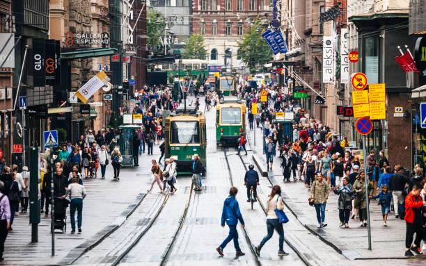 헬싱키, 핀란드 시 센터 - 핀란드 뉴스 사진 이미지