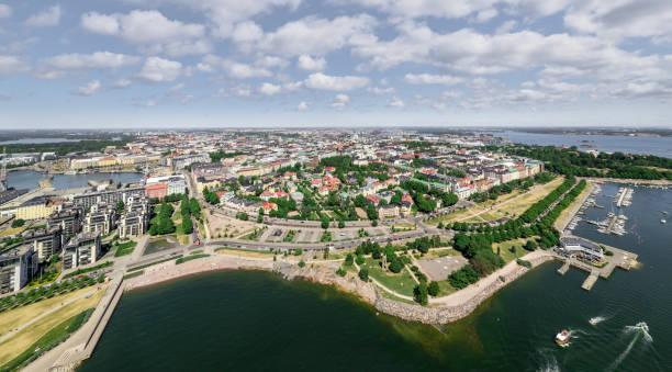helsingfors, finland - drone helsinki bildbanksfoton och bilder