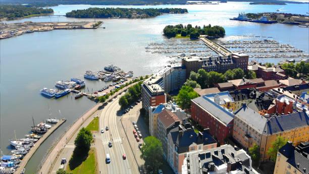 helsingfors finland natursköna flygfoto - drone helsinki bildbanksfoton och bilder