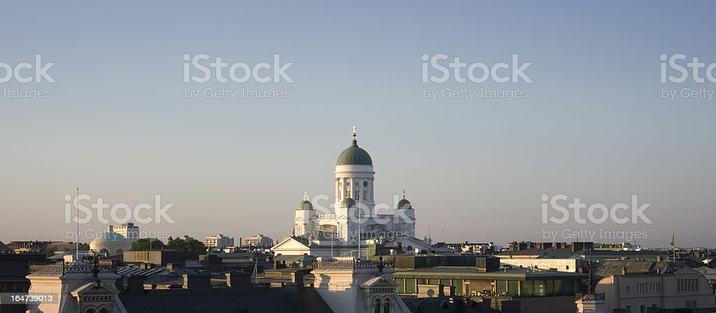 Helsinki Finland sunset royalty-free stock photo