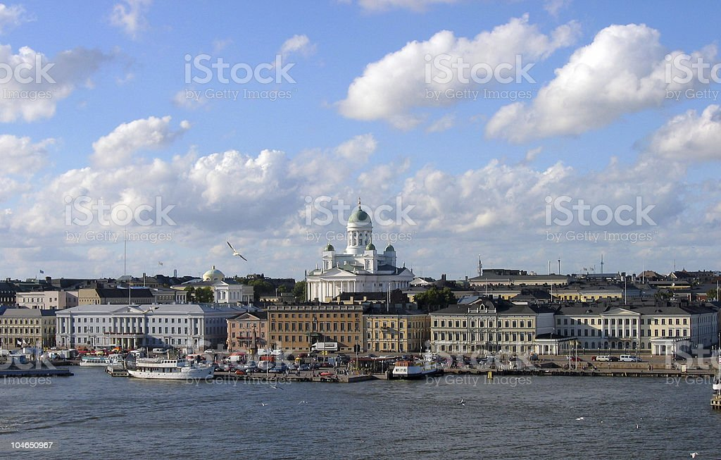 Helsinki from the sea royalty-free stock photo