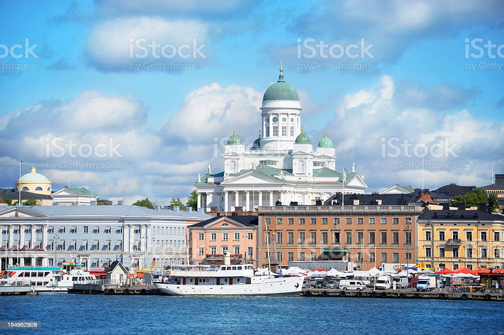 Helsinki harbour by summer royalty-free stock photo