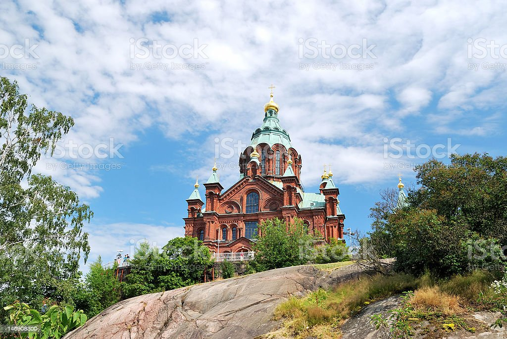 Helsinki. Orthodox Cathedral royalty-free stock photo