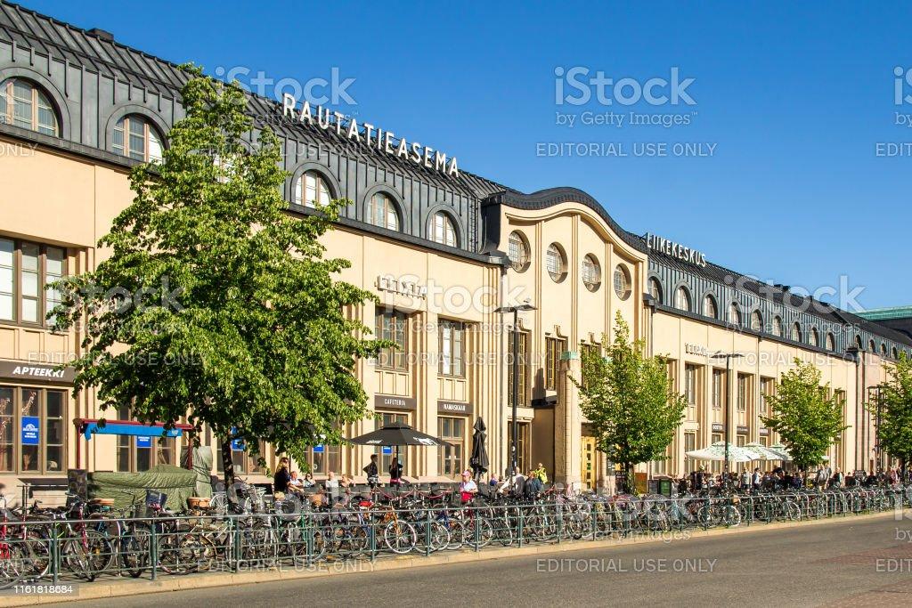 Estación ferroviaria de Helsinki - Foto de stock de Aire libre libre de derechos