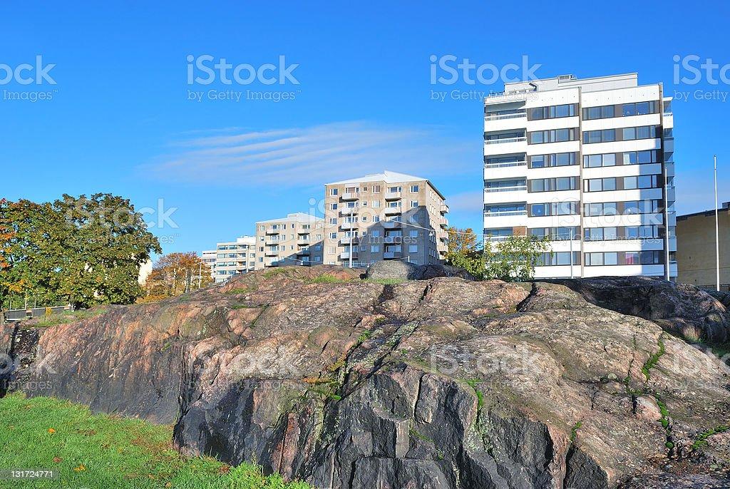 Helsinki. Rocky cityscape royalty-free stock photo