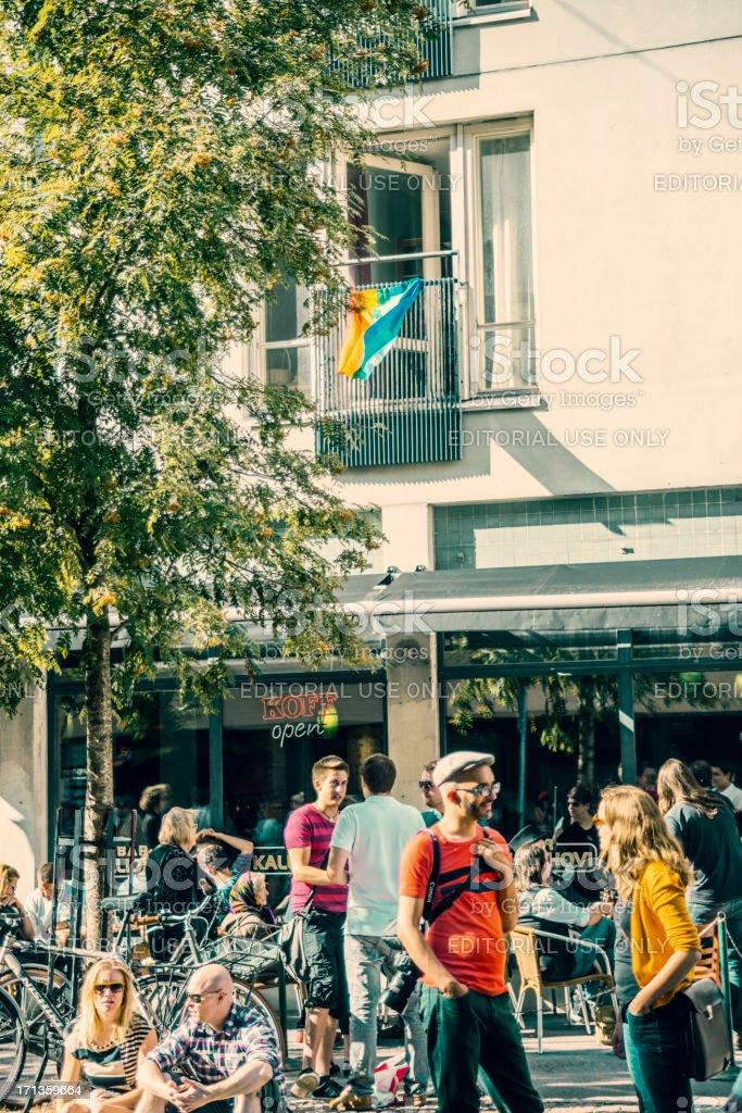 Helsinki street gathering - Kallio block party royalty-free stock photo