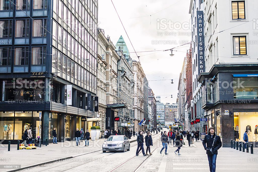 Helsinki streets. stock photo