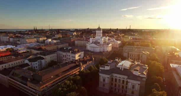 Helsinki-Sonnenuntergang-Antenne – Foto