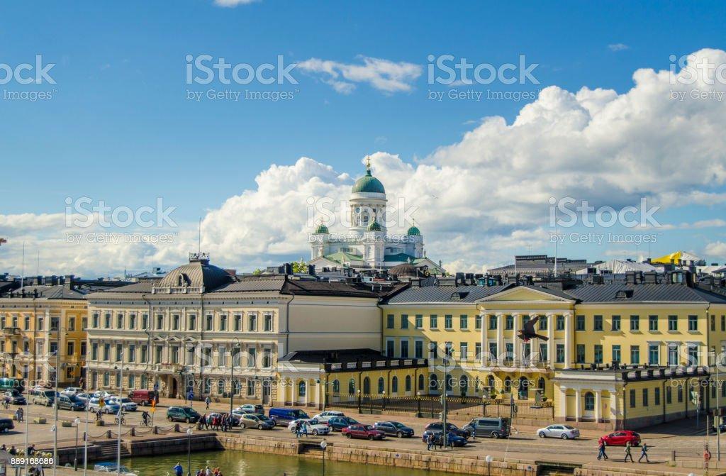 Helsinki, the capital of Finland stock photo