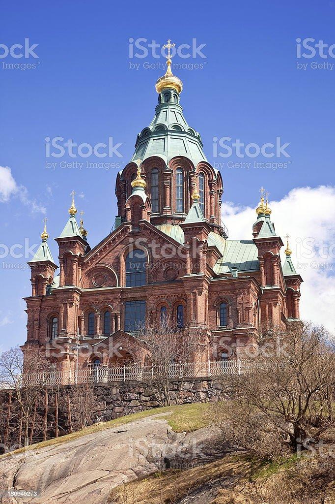 Helsinki. Uspenski cathedral royalty-free stock photo