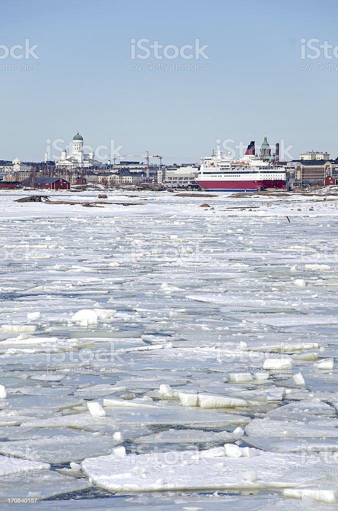 Helsinki winter royalty-free stock photo