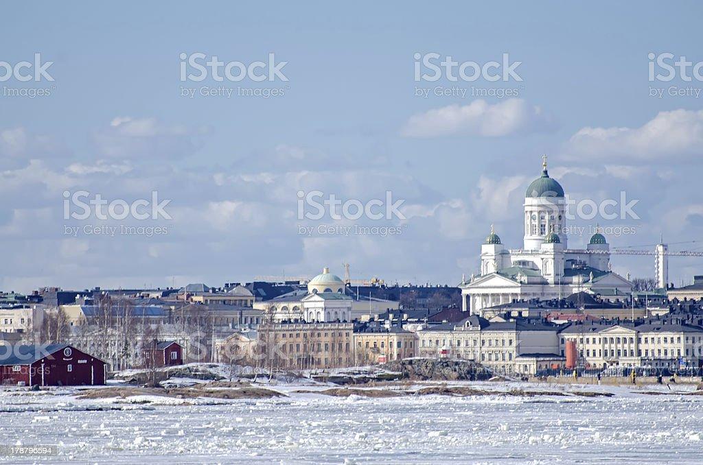 Helsinki winter. stock photo