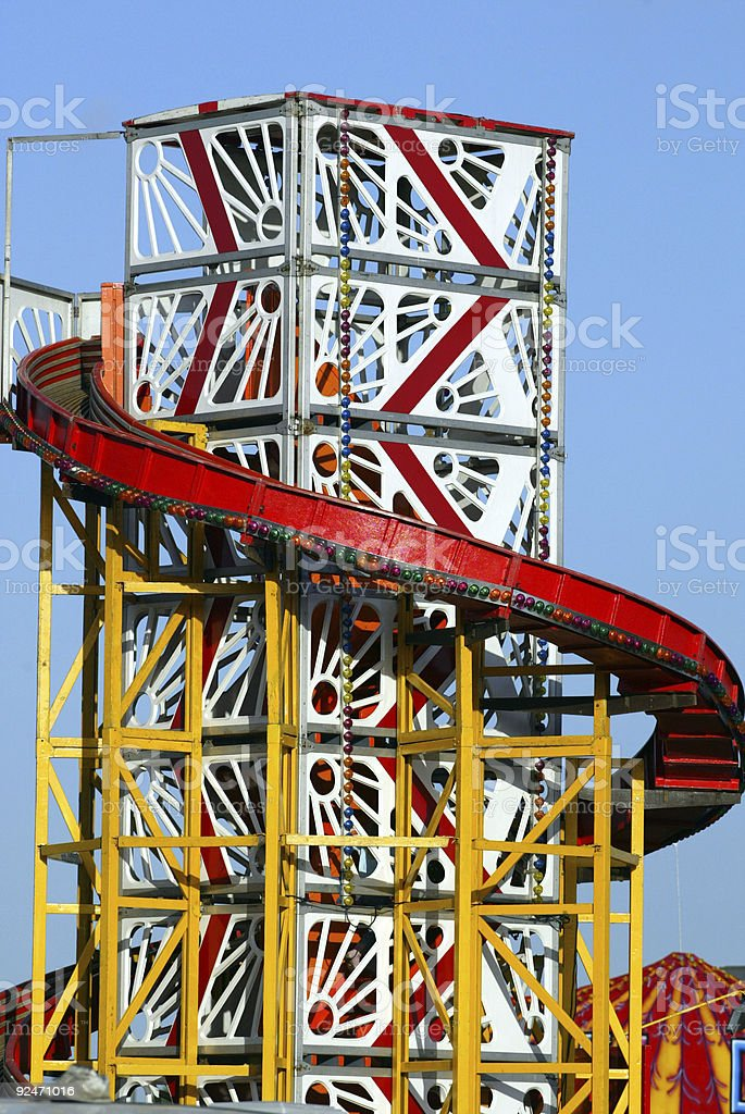Helter Skelter at Funfair royalty-free stock photo