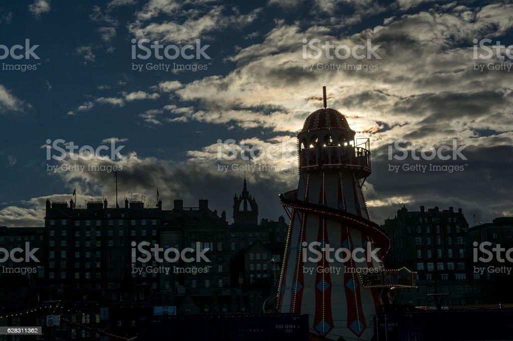 Helter Skelter, Edinburgh's Christmas's stock photo