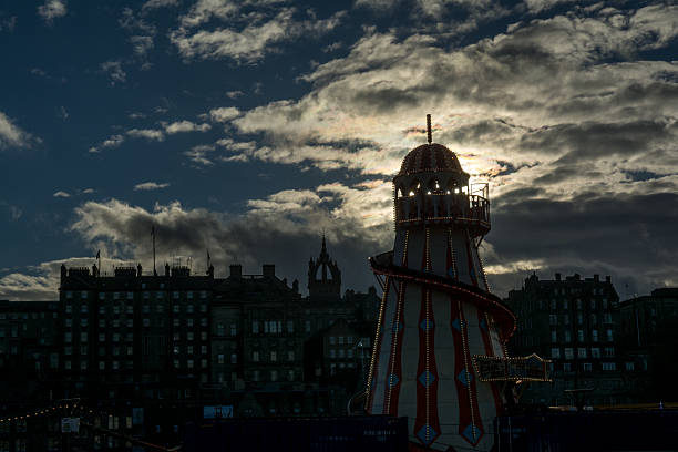 Helter Skelter, Edinburgh's Christmas's stock photo