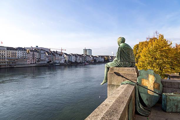 Helvetia Statue in Basel, Switzerland - foto de stock