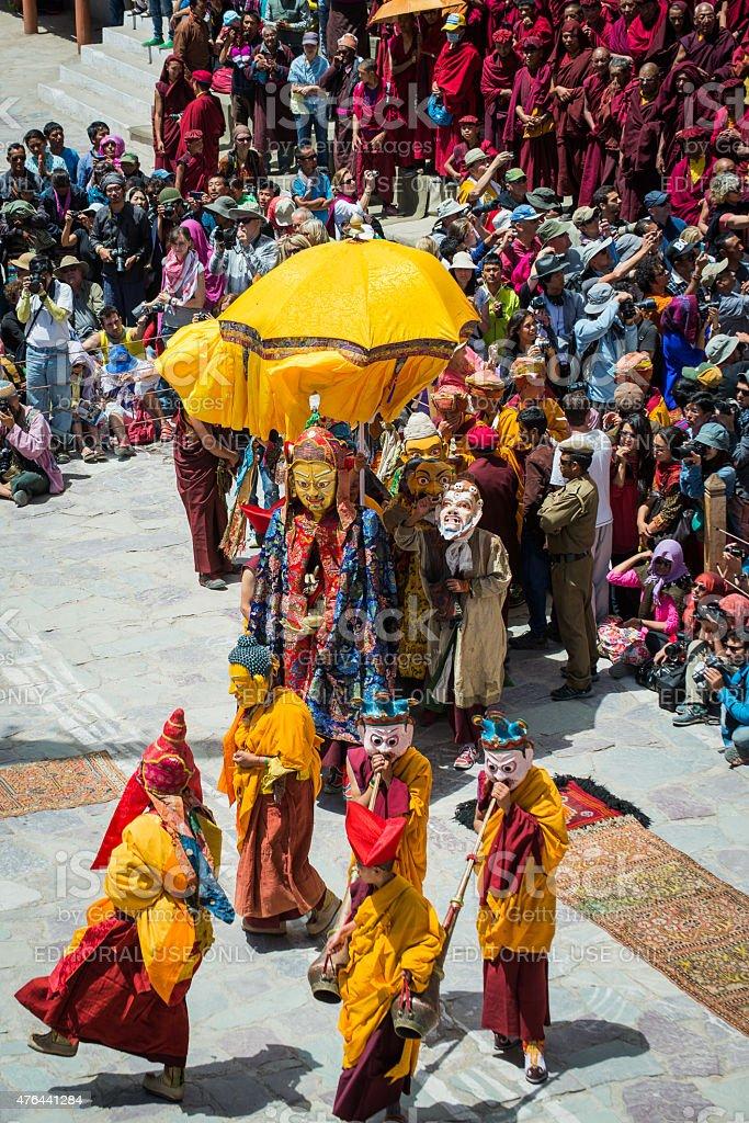 Hemis Festival 2014 at Hemis Monastery. stock photo