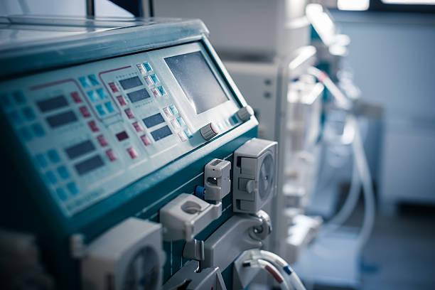 hemodialysis machine stock photo