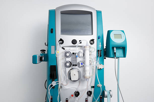 Hemodialysis machine with tubing and installations – Foto