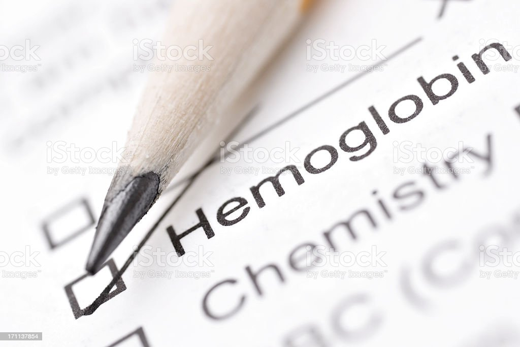 hemoglobin lab report royalty-free stock photo