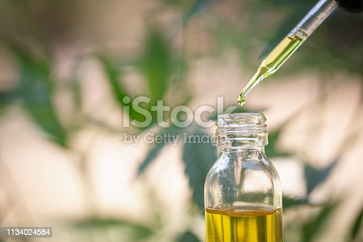 Hemp oil, Medical marijuana products including cannabis leaf,  cbd  and hash oil, alternative medicine