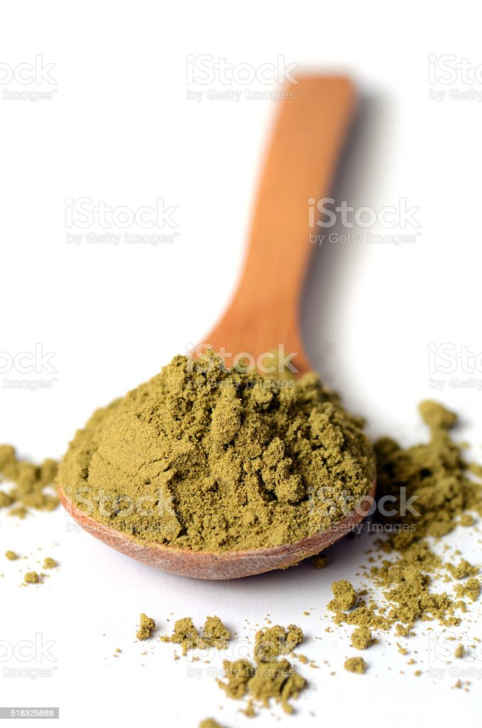 hemp protein powder stock photo