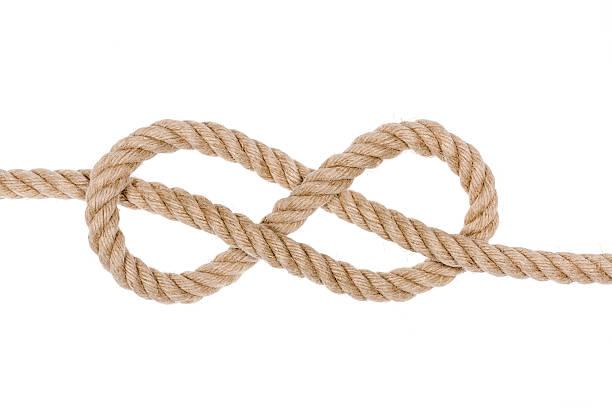 Hemp Rope Knot. - foto de acervo