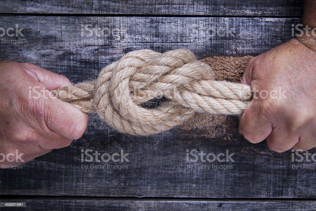 Hemp Rope royalty-free stock photo