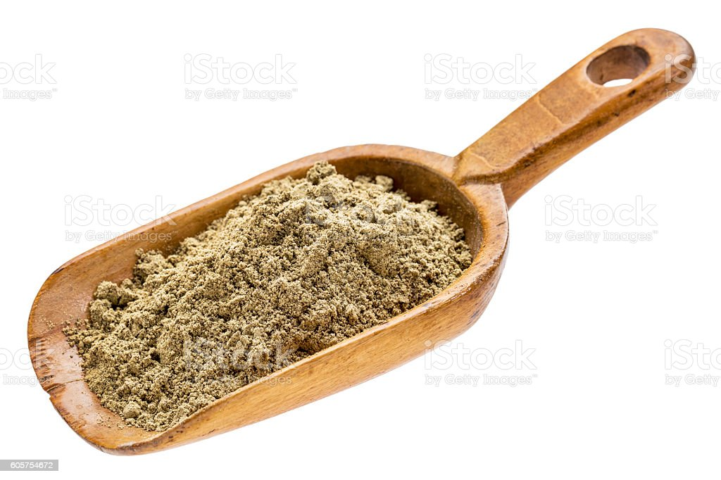 hemp seed protein powder stock photo