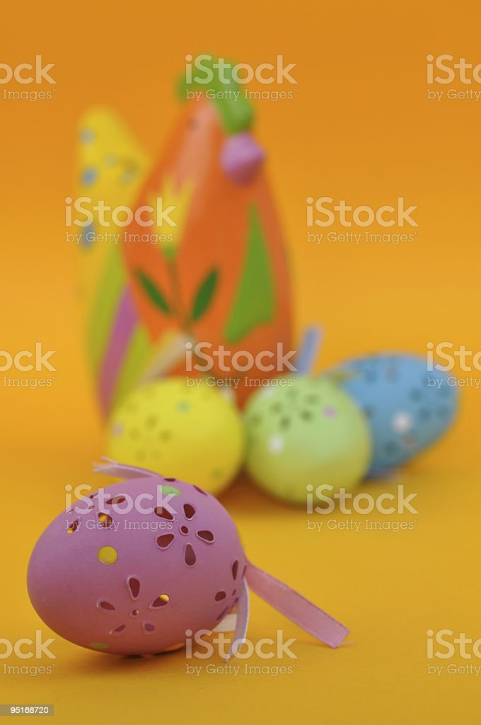 Hen and Easter Eggs royalty-free stock photo