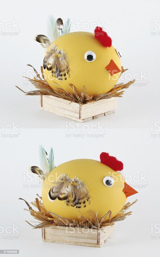 hen egg character stock photo