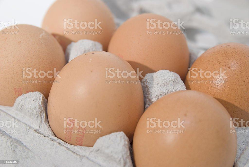 Hen eggs royalty-free stock photo