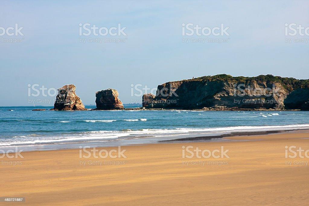 Hendaye, France stock photo
