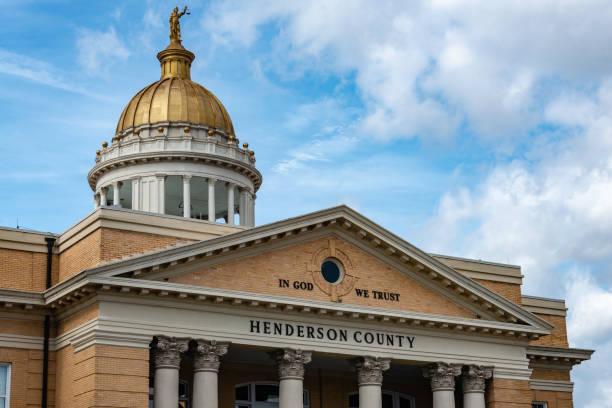 Henderson County Building stock photo