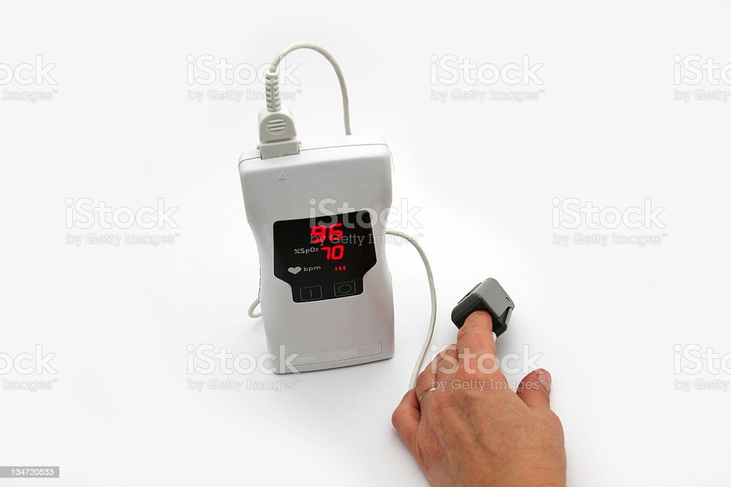 Hendheld pulse oximeter royalty-free stock photo