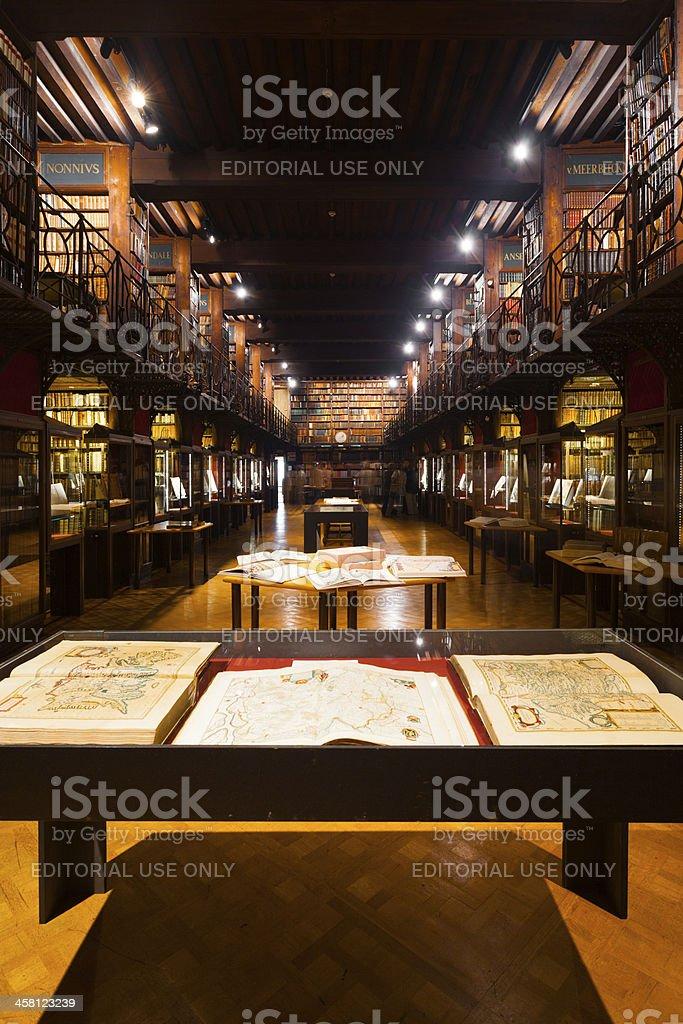 Hendrik Conscience Heritage Library Hall royalty-free stock photo